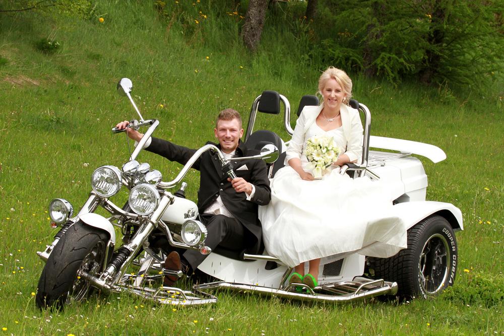 R-Trikes Hochzeitstrike mieten